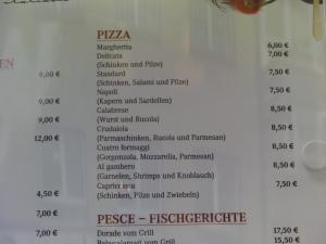 Errori Menu Ristoranti italiani estero